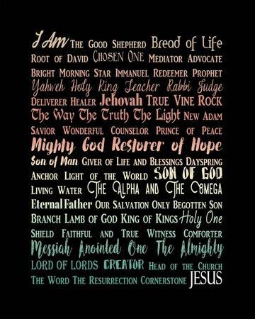 Names of Jesus Rectangle Orange Ombre Text