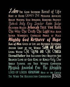 Names of Jesus Rectangle Orange Ombre Text by Inspire Me