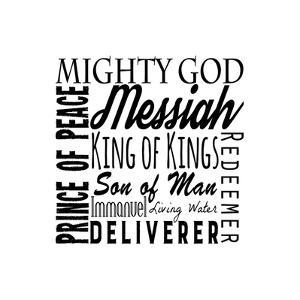 Names of Jesus Square Black Text by Inspire Me