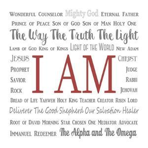 Names of Jesus Square Gray and Red Text by Inspire Me