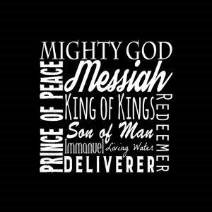 Names of Jesus Square White Text by Inspire Me