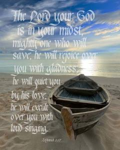 Zephaniah 3:17 The Lord Your God (Beach) by Inspire Me