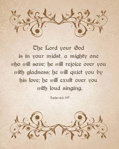 Zephaniah 3:17 The Lord Your God (Brown) by Inspire Me