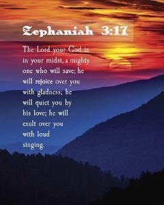 Zephaniah 3:17 The Lord Your God (Sunset) by Inspire Me