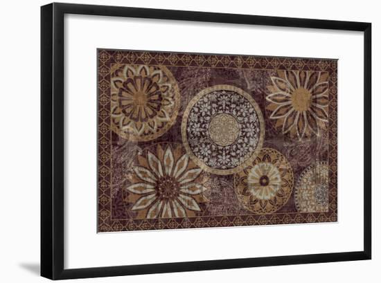 Inspired India Dark--Framed Art Print