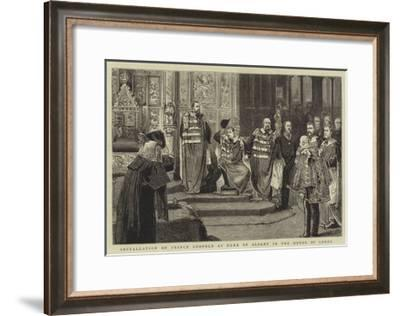 Installation of Prince Leopold as Duke of Albany in the House of Lords--Framed Giclee Print