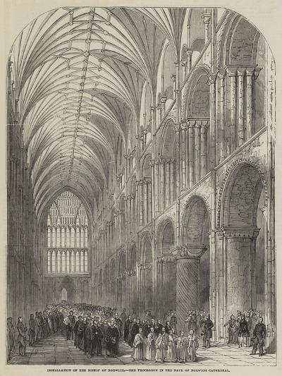 Installation of the Bishop of Norwich, the Procession in the Nave of Norwich Cathedral--Giclee Print