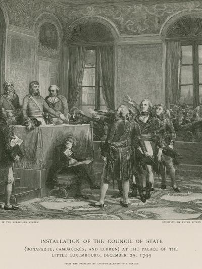 Installation of the Council of State--Giclee Print