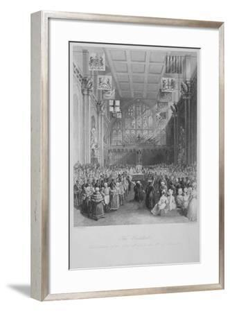 Installation of the Lord Mayor of London at the Guildhall, City of London, 1838-Harden Sidney Melville-Framed Giclee Print