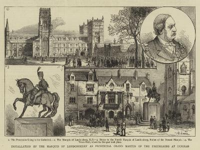 Installation of the Marquis of Londonderry as Provincial Grand Master of the Freemasons at Durham--Giclee Print