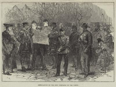 Installation of the New Constable of the Tower-Charles Robinson-Giclee Print