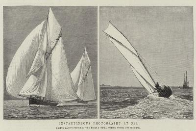 Instantaneous Photography at Sea--Giclee Print