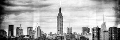 Instants of NY BW Series - Panoramic Landscape View Manhattan with the Empire State Building-Philippe Hugonnard-Photographic Print