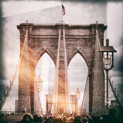 Instants of NY Series - Brooklyn Bridge View - Manhattan - New York City - United States - USA-Philippe Hugonnard-Photographic Print