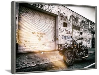 Instants of NY Series - Motorcycle Garage in Brooklyn - Manhattan - New York - United States - USA-Philippe Hugonnard-Framed Photographic Print