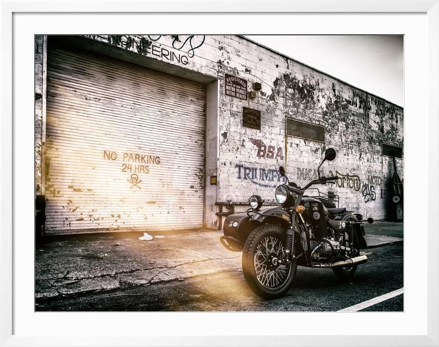 Instants Of Ny Series Motorcycle Garage In Brooklyn Manhattan