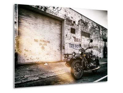 Instants of NY Series - Motorcycle Garage in Brooklyn - Manhattan - New York - United States - USA-Philippe Hugonnard-Metal Print