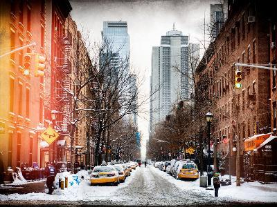 Instants of NY Series - Street Scenes and Urban Landscape in Snowy Manhattan-Philippe Hugonnard-Photographic Print