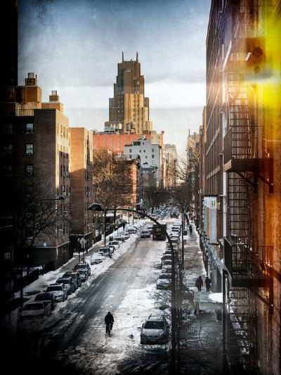 Instants of NY Series - Urban Snowy Winter Landscape-Philippe Hugonnard-Photographic Print