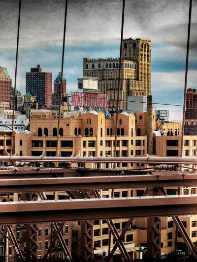 Instants of NY Series - View of Brooklyn Bridge of the Watchtower Building-Philippe Hugonnard-Photographic Print