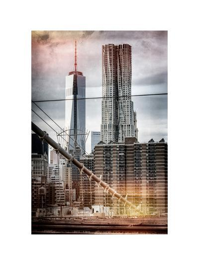 Instants of NY Series - View of Brooklyn Bridge with the One World Trade Center-Philippe Hugonnard-Photographic Print