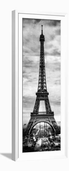 Instants of Paris B&W Series - Eiffel Tower, Paris, France-Philippe Hugonnard-Framed Photographic Print