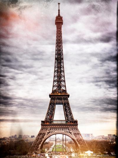 Instants of Paris Series - Eiffel Tower, Paris, France-Philippe Hugonnard-Photographic Print