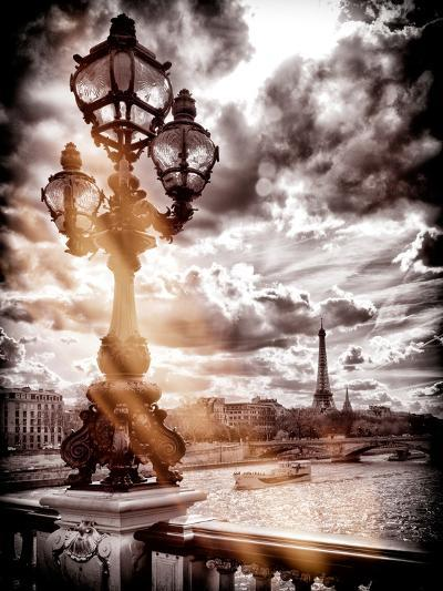 Instants of Series - Alexander III and Eiffel Tower - Paris, France-Philippe Hugonnard-Photographic Print