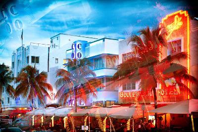 Instants of Series - Colorful Ocean Drive - South Beach - Miami Beach Art Deco Distric - Florida-Philippe Hugonnard-Photographic Print