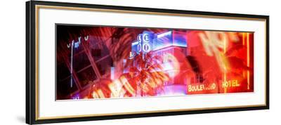 Instants of Series - Colorful Street Life at Night - Ocean Drive - Miami-Philippe Hugonnard-Framed Photographic Print