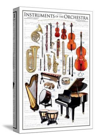 Instruments of the Orchestra--Stretched Canvas Print