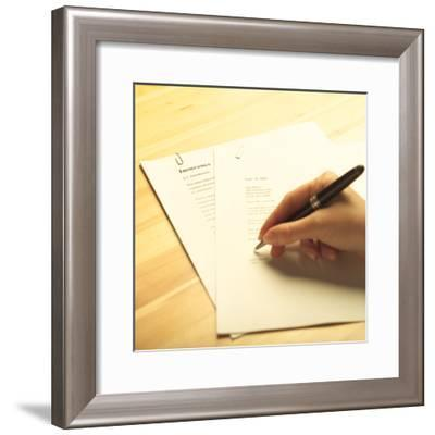Insurance Papers--Framed Photographic Print
