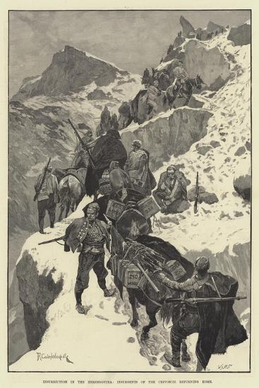 Insurrection in the Herzegovina, Insurgents of the Crivoscie Returning Home-Richard Caton Woodville II-Giclee Print
