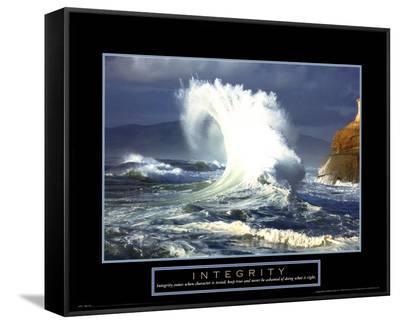 Integrity: Wave--Framed Canvas Print