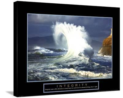 Integrity: Wave--Stretched Canvas Print