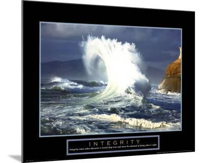 Integrity: Wave--Mounted Print