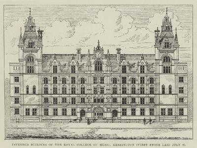 Intended Building of the Royal College of Music, Kensington (First Stone Laid 8 July)--Giclee Print