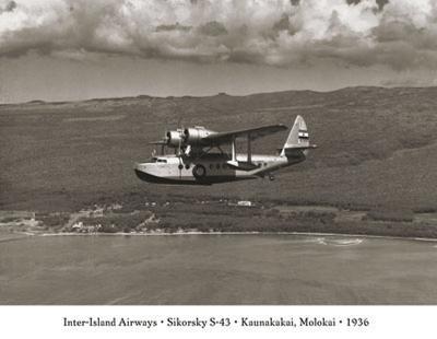 Inter-Island Airways, Sikorsky S-43, Kaunakakai, Molokai, Hawaii, 1936--Art Print