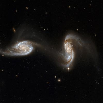 Interacting Galaxies NGC 5257 And 5258--Photographic Print