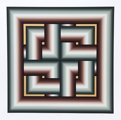 Interchange-Jurgen Peters-Serigraph