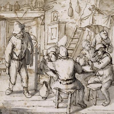 Intérieur d'estaminet-Adrien Van Ostade-Giclee Print