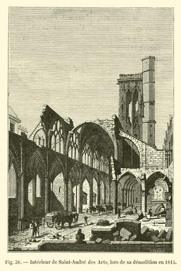 Interieur De Saint-Andre Des Arts, Lors De Sa Demolition En 1815--Giclee Print