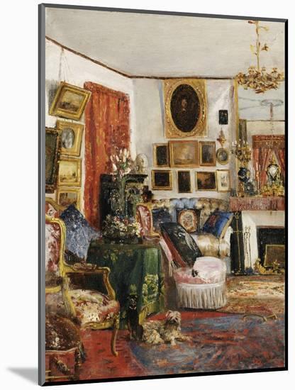 Interieur eines Wohnzimmers. 1882-Gustave de Launay-Mounted Premium Giclee Print