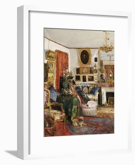 Interieur eines Wohnzimmers. 1882-Gustave de Launay-Framed Giclee Print