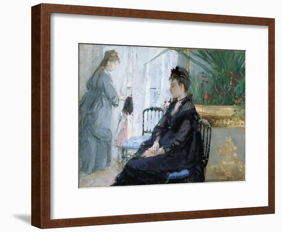 Interior, 1872-Berthe Morisot-Framed Giclee Print