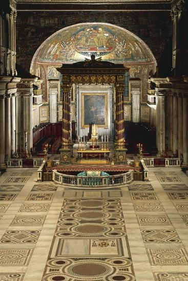 Interior and Main Altar, Basilica of Santa Maria Maggiore, Rome, Italy--Giclee Print