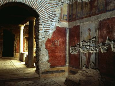 Interior court of Roman villa on Mount Coressos, Ephesus, Turkey--Photographic Print