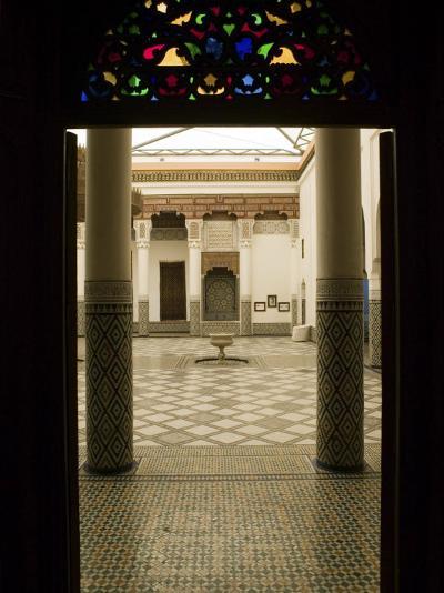 Interior Courtyard, Musee De Marrakech, Marrakech, Morocco-Walter Bibikow-Photographic Print