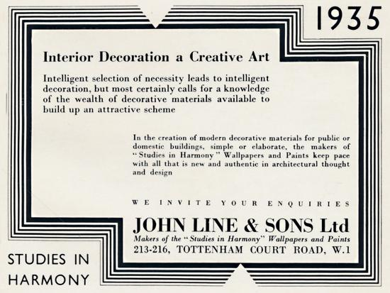 'Interior Decoration a Creative Art - John Line & Sons Ltd', 1935-Unknown-Photographic Print