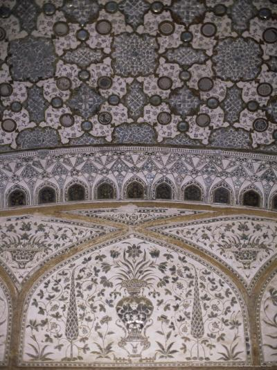 Interior Decorative Detail, Amber Fort, One of the Great Rajput Forts, Amber, Near Jaipur, India-John Henry Claude Wilson-Photographic Print